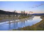 Dawn, Lamar River, Lamar Valley, Yellowstone National Park, Wyoming