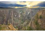 Sunrise, South Rim of Canyon, Black Canyon of the Gunnison National Park, Montrose, Colorado
