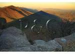 Flat Top Mountain and Sharp Top Mountain Shadow, Peaks of Otter, Blue Ridge Parkway, Virginia