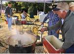 Stirring Cooking Apples, Making Apple Butter, Apple Festival, Mount Jackson, Virginia