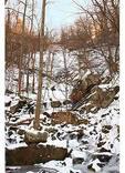 Hiker, Frozen Crabtree Falls, Blue Ridge Parkway, Virginia