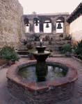 Mission San Juan Capistrano fountain and courtyard