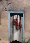 Ristras, Doorway, Ranchos de Taos