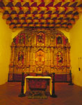 Baroque altar and reredos at Mission San Francisco de Asis