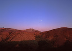Moonrise, Badlands, South Dakota