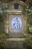 Painted tile image of Our Lady of Mt. Carmel, Mission San Carlos Borromeo
