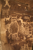 Owl Petroglyph, Nine Mile Canyon, Utan