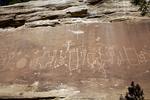 Navajo Rock Art, Carey's Wall