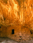 Ceiling on Fire Ruin, Mule Canyon, Utah