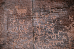 Petroglyphs, Crack in Rock Ruin, Wupatki National Monument