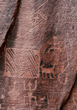 Petroglyphs, Crack in Rock Ruin, Wupatki National Monument