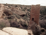 Holly Tower, Boulder Tower in Background, Hovenweep National Monument