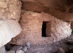 Rockshelter beneath overhang at head of Cajon canyon, Hovenweep National Monument
