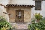 Statue of Blessed Mary and Child Jesus, Inner Courtyard, Mission San Carlos Borromeo de Carmelo, Carmel, California