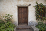 Courtyard Door and Garden, Mission San Carlos Borromeo de Carmelo, Carmel, California