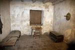 Interior of restored cell where Father Junipero Serra died August 28, 1784, Mission San Carlos Borromeo de Carmelo
