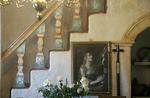 Decorative staircase, Mission San Carlos Borromeo de Carmelo, Carmel, California