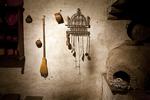 Kitchen wall, oven, Mission San Carlos Borromeo de Carmelo. Carmel, California