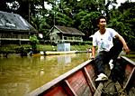 Borneo Longhouses along Skrang River