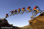 Mountain biker catches big air at Rampage site near Virgin Utah MR