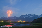 4th of July fireworks over Stanley Idaho