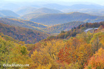 Autumn view of the Blue Ridge Mountains form the Blue Ridge Parkway in North Carolina