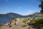 City Park beach along Okanagan Lake in Kelowna British Columbia Canada