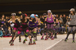 Roller Derby action in Reno, Nevada, USA