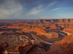 Looking down onto the Colorado River and Canyonlands National Park from Dead Horse State Park near Moab, Utah, USA