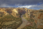 The Yampa River at Wagon Wheel Overlook in Dinosaur National Monument, Colorado, USA