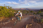 Mountain bikers on the Intrepid Trail at Dead Horse State Park near Moab, Utah, USA model released