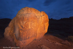 Native American Petroglyphs on boulder near Moab, Utah, USA