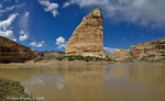 Steamboat Rock at Echo Park in the Dinosaur National Monument, Colorado, USA