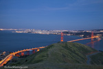 The Golden Gate Bridge from the Marin Headlands in San Francisco, California, USA