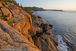 Otter Cliffs at sunrise in Acadia National Park, Maine, USA