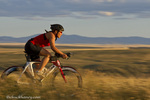 Road bicycling near Great Falls, Montana, USA model released