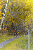 Bicycling on the William Munger Trail near Duluth, Minnesota, USA model released