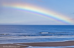 Large rainbow over the Pacific Ocean at Newport, Oregon, USA