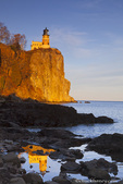Split Rock Lighthouse at sunset near Two Harbors, Minnesota, USA