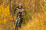 Mountain biking on the Piedmont Trail in Duluth, Minnesota, USA model released