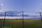 Little League baseball action in Havre, Montana, USA