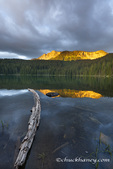 Little Therriault Lake at sunrise in the Ten Lakes Scenic Areea in the Kootenai National Forest, Montana, USA
