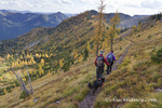 Hiking on the Nasukoin Mountain Trail in the Whitefish Range of the Flathead National Forest, Montana, USA MR