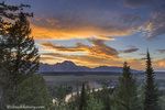 Vivid sunset clouds over the Snake River in Grand Teton National Park, Wyoming, USA
