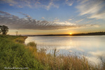 Sunrise over wetlands at Arrowwood NWR near Jamestown, North Dakota, USA
