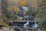 The historic grist mill on Glade Creek at Babcock State Park, West Virginia, USA