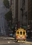 Cable car on California Street in San Francisco, California, USA