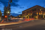 Evening lights in the streets of downtown in Aspen. Colorado, USA