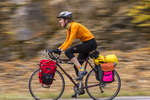 Bike touring in the Kootenai National Forest, Montana, USA model released