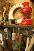 Maritime Treasures, display found in a beachside shop on the Oregon coast